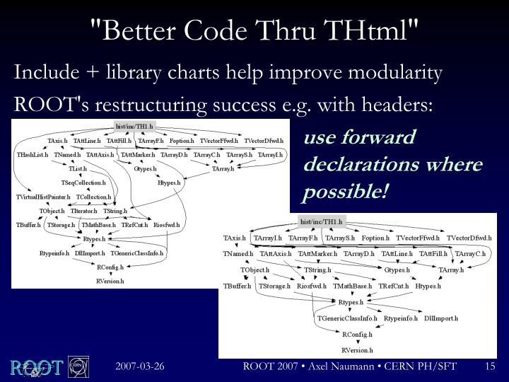 """""""Better Code Thru THtml"""""""