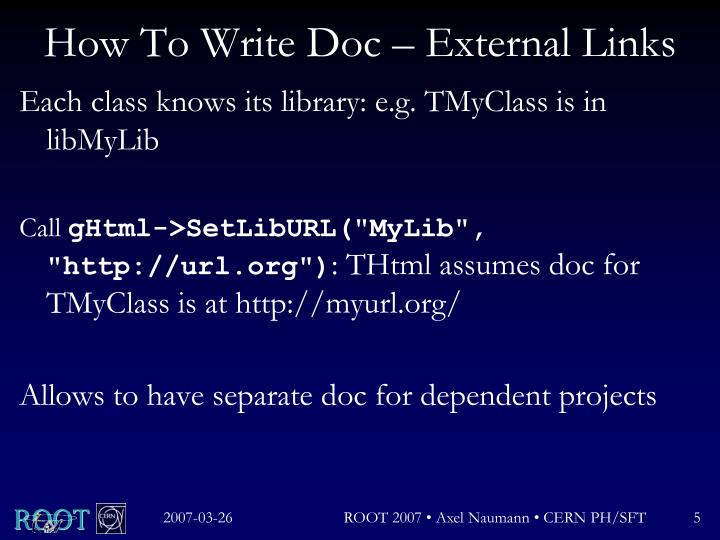 How To Write Doc – External Links