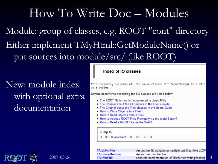 How To Write Doc – Modules