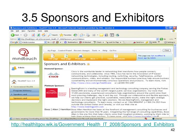 3.5 Sponsors and Exhibitors