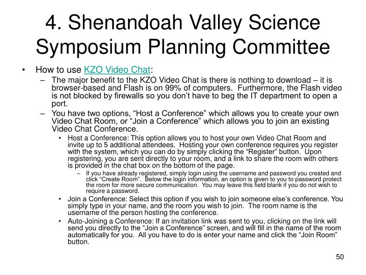 4. Shenandoah Valley Science Symposium Planning Committee