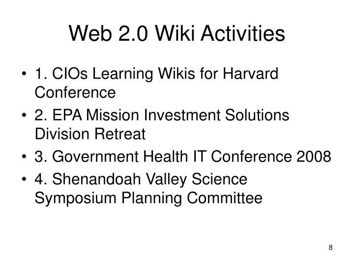 Web 2.0 Wiki Activities