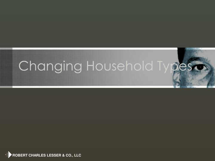 Changing Household Types