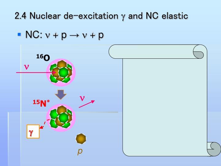 2.4 Nuclear de-excitation