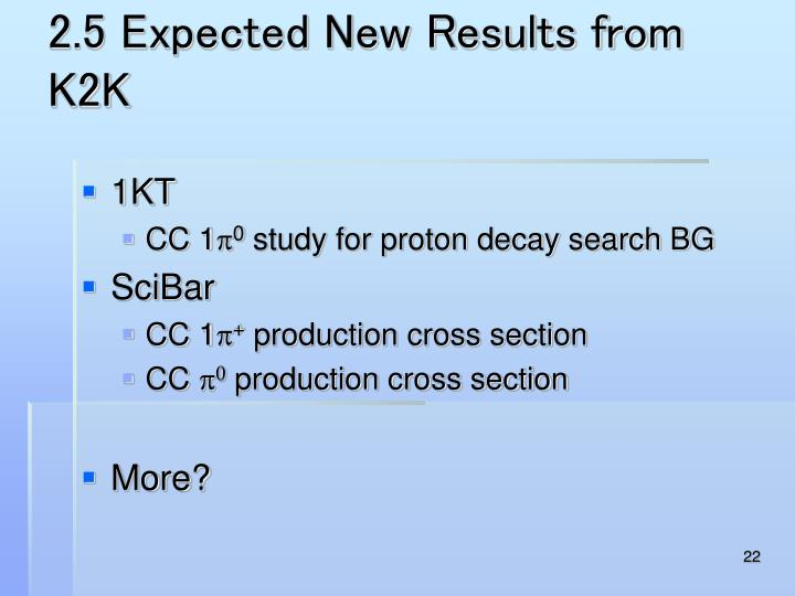 2.5 Expected New Results from K2K