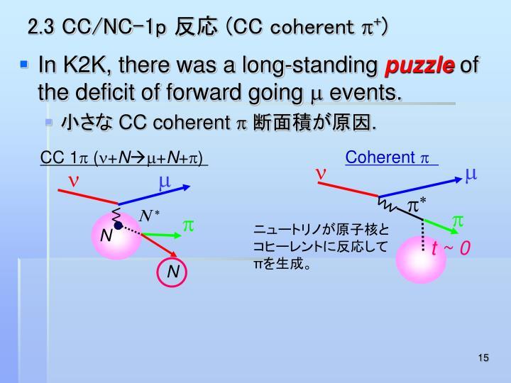 2.3 CC/NC-1p