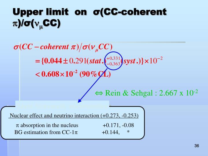 Upper limit  on  σ(CC-coherent