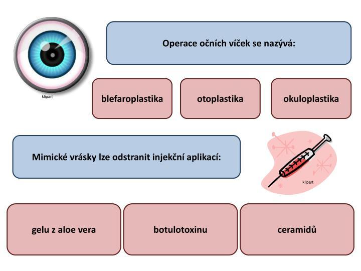 Operace očních víček se nazývá: