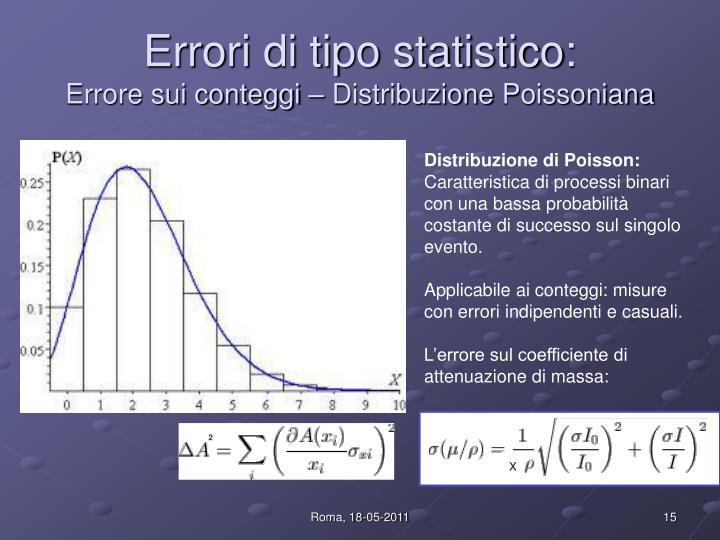 Errori di tipo statistico: