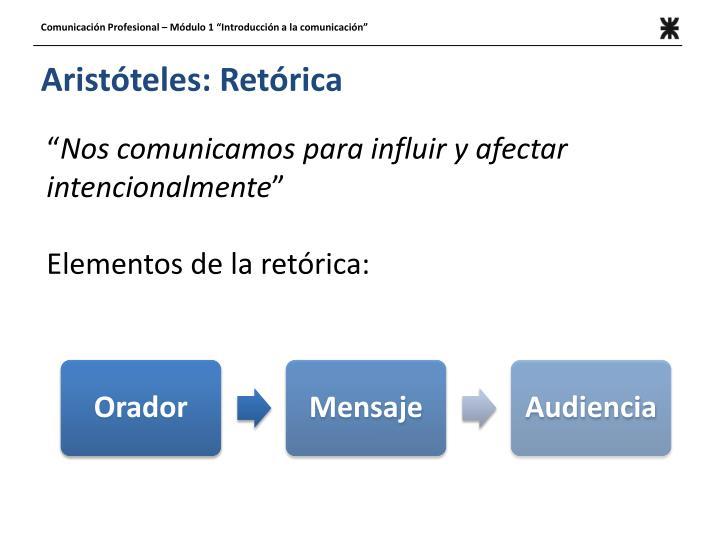 Aristóteles: Retórica
