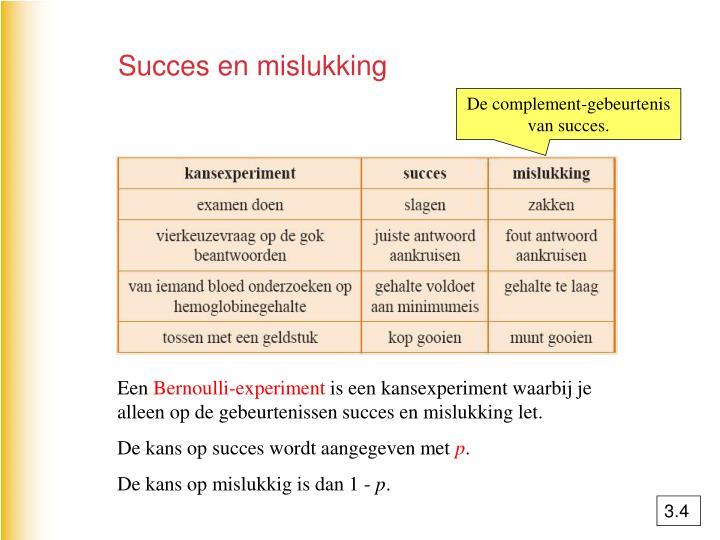 Succes en mislukking