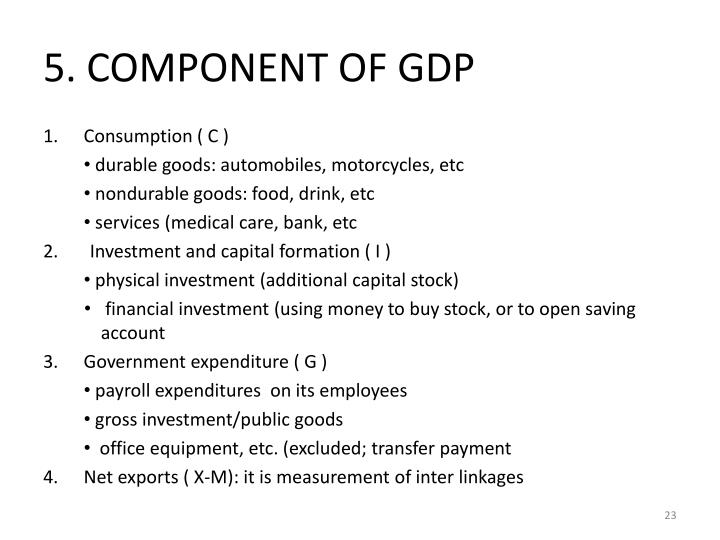 5. COMPONENT OF GDP