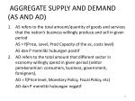 aggregate supply and demand as and ad