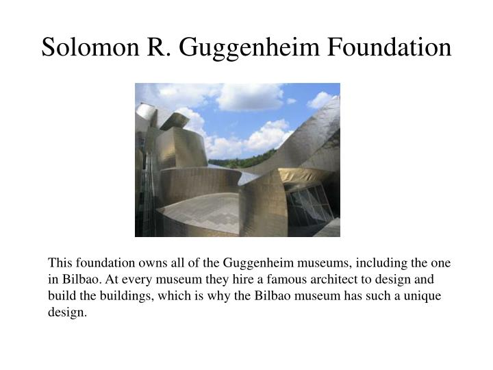 Solomon r guggenheim foundation