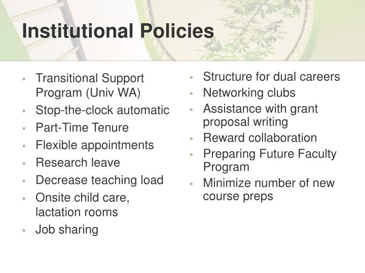 Transitional Support Program (Univ WA)