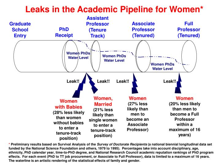 Leaks in the Academic Pipeline for Women*