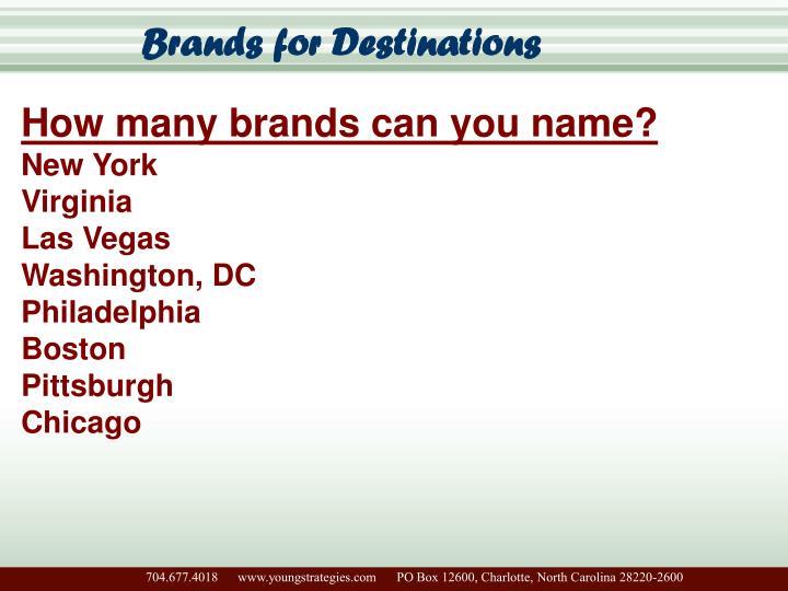 Brands for Destinations