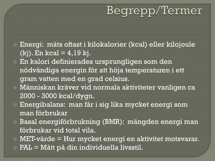 Begrepp/Termer