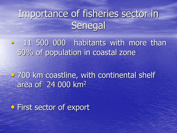 Importance of fisheries sector in senegal