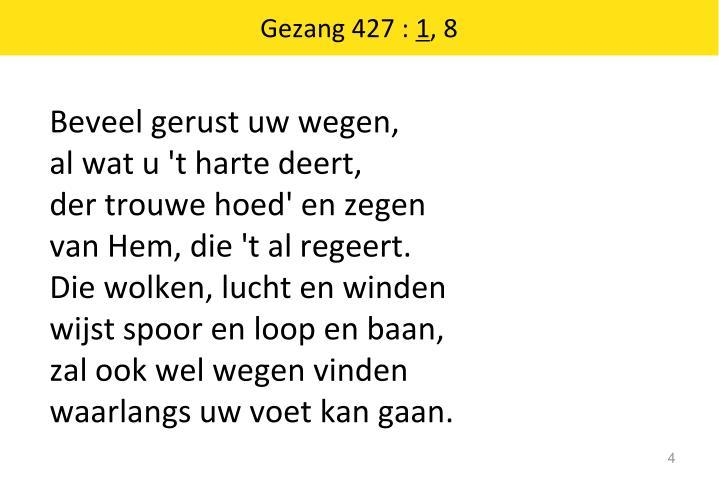 Gezang 427 :