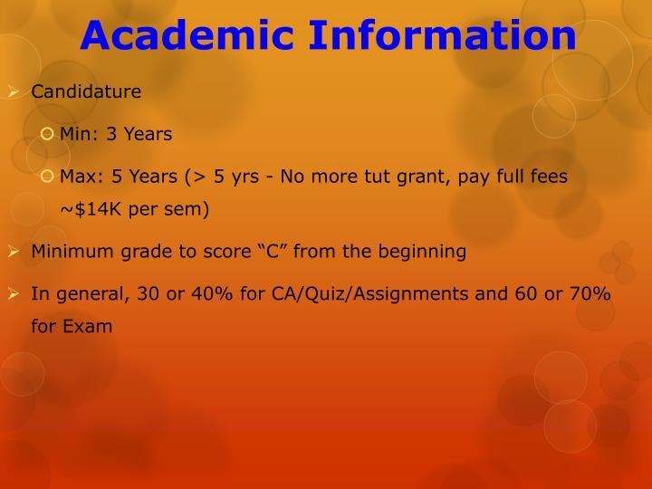 Academic Information