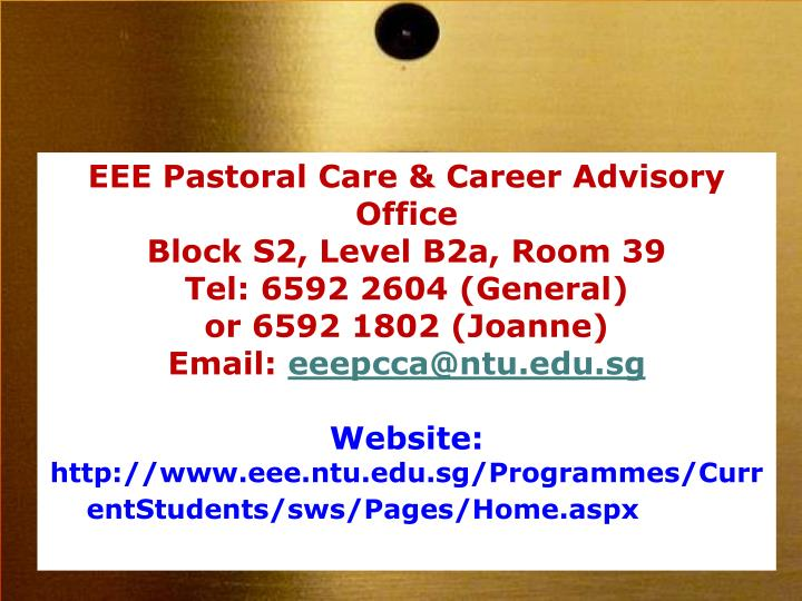 EEE Pastoral Care & Career Advisory Office