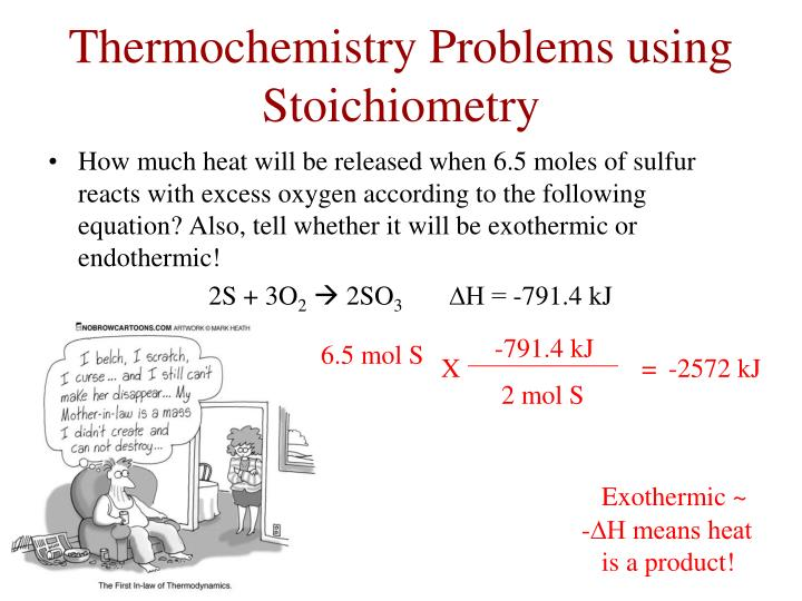 Thermochemistry Problems using Stoichiometry