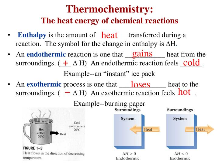 Thermochemistry the heat energy of chemical reactions