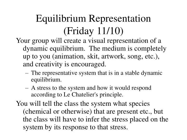 Equilibrium Representation