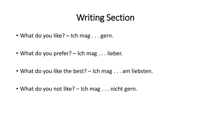Writing Section