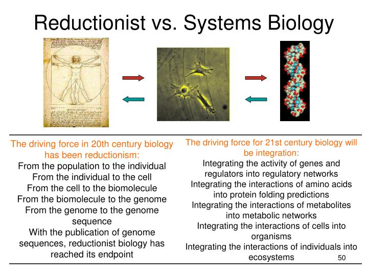 Reductionist vs. Systems Biology