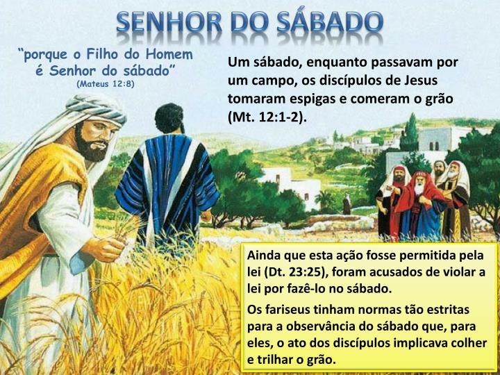 SENHOR DO SÁBADO