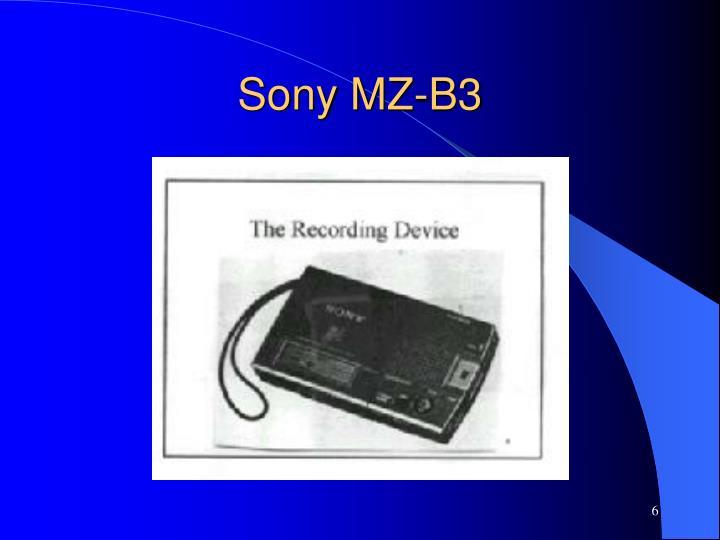 Sony MZ-B3