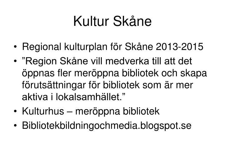 Kultur Skåne