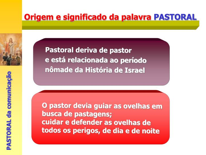 Pastoral deriva de pastor