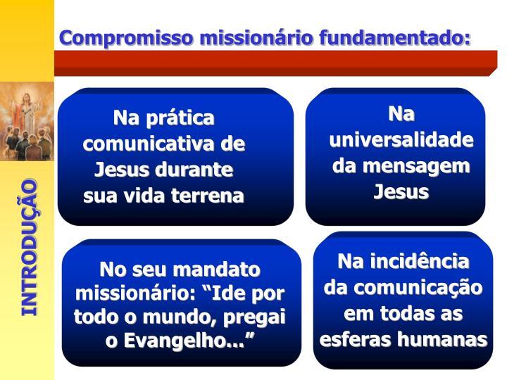Na universalidade da mensagem