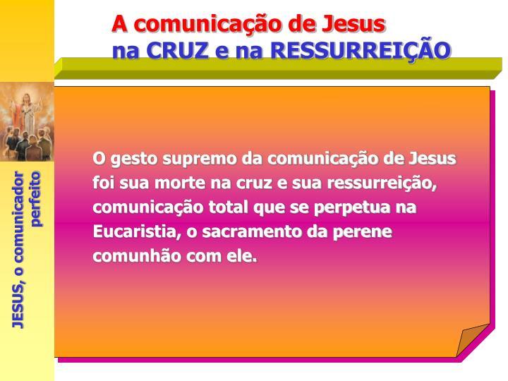 O gesto supremo da comunicação de Jesus