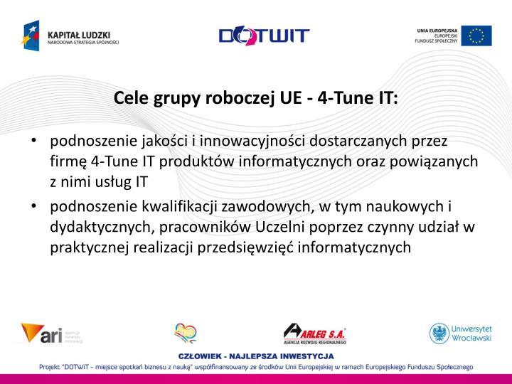 Cele grupy roboczej UE - 4-Tune IT: