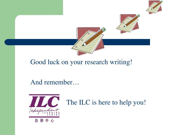 Good luck on your research writing!