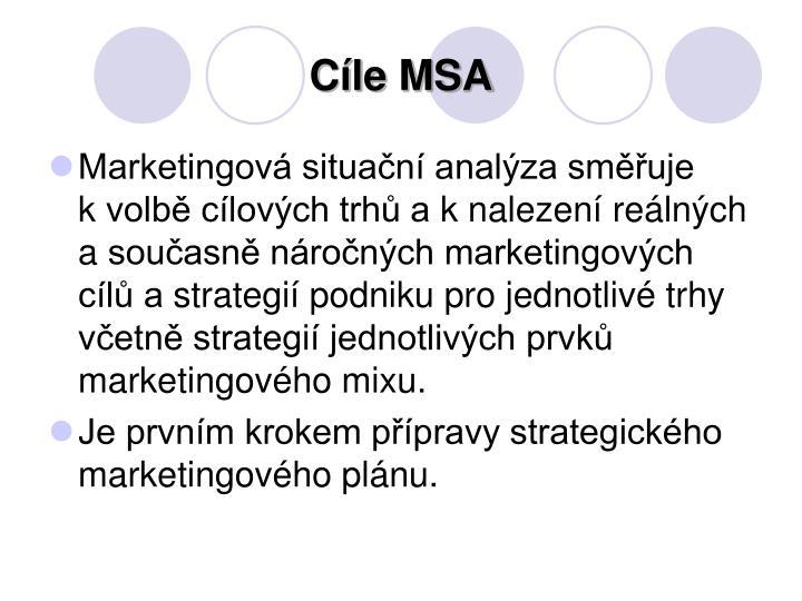 Cíle MSA