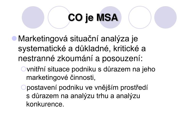CO je MSA