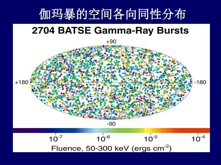 伽玛暴的空间各向同性分布