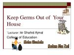 keep germs out of your house