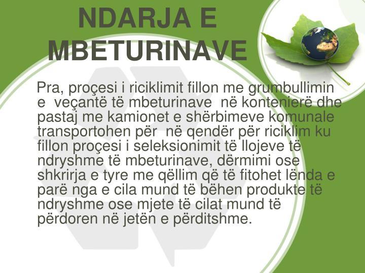 NDARJA E MBETURINAVE
