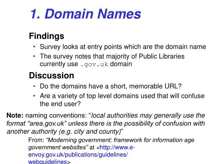 1. Domain Names