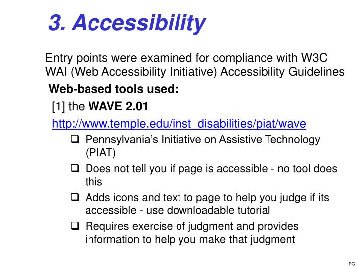 3. Accessibility