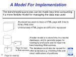 a model for implementation