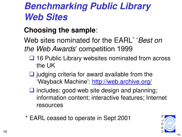 Benchmarking Public Library