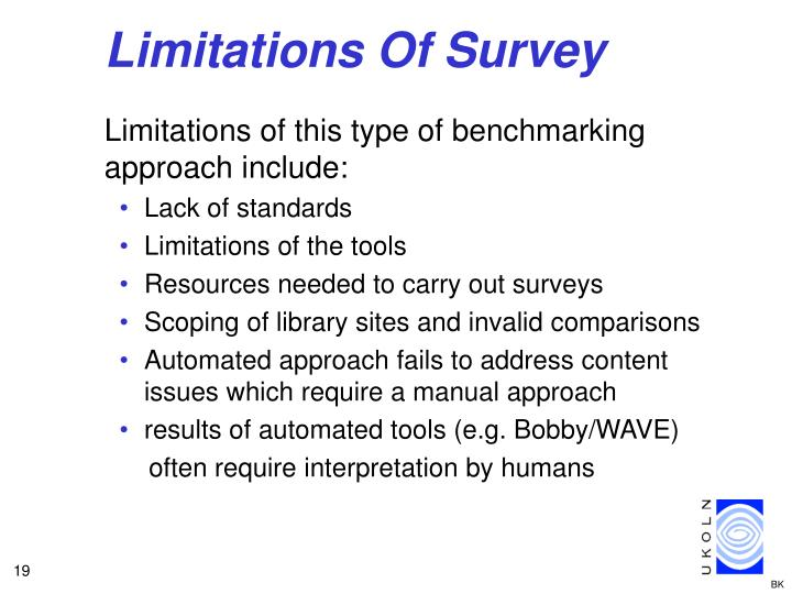 Limitations Of Survey