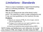 limitations standards